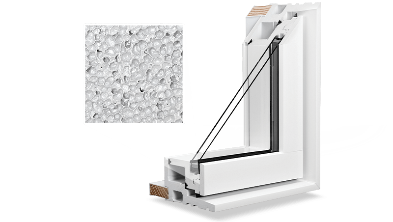 Our RevoCell window is made of microcellular PVC which makes it stronger and more durable